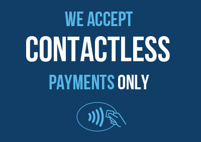 contactless payment method posters