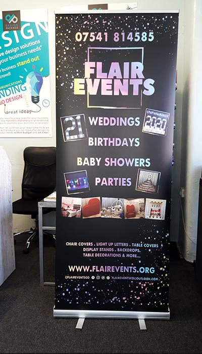 flair events roller banner