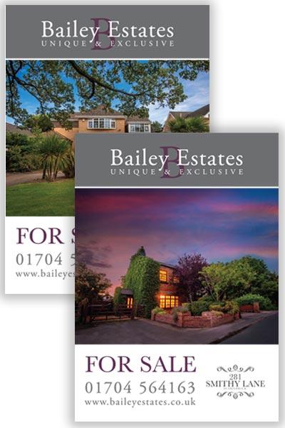 estate agent for sale boards
