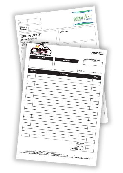 invoice pads NCR