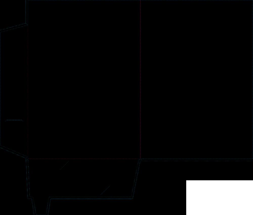 Interlocking presentation folder template