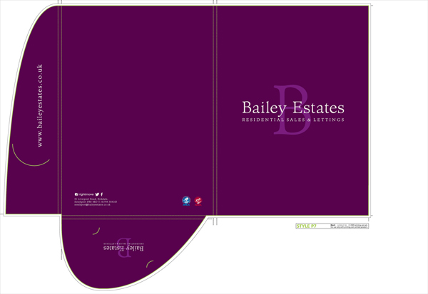 Bailey Estates presntation folder