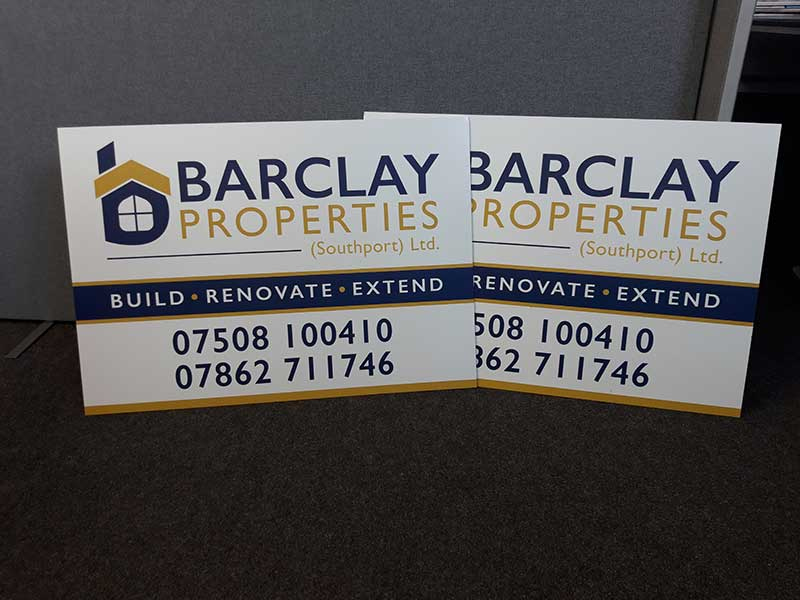 barclay properties southport - Dibond boards